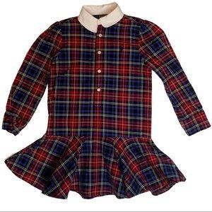 Polo Ralph Lauren Tartan Dress 4T Drop Waist